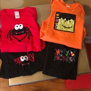New Halloween 6-12 Months Onesie Outfits.